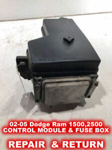 details about 02 05 dodge ram 1500,2500,3500 front control module & fuse box repair service! 05 ford f-150 fuse box 05 dodge ram 2500 fuse box #13