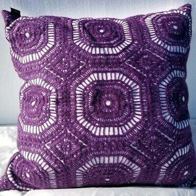 Hallmart Collectibles Purple Transitional Embroidered Pillow