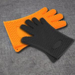 Kitchen-Heat-Resistant-Silicone-Glove-Oven-Pot-Holder-Baking-BBQ-Cooking-Mitt-L3