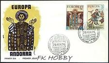 Andorra Spa 1975 FDC 96-97a Union Europa Cept Religion Painting Gemälde Art