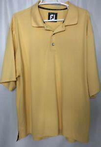 FOOTJOY-FJ-Mens-XL-Yellow-Polo-Golf-Shirt-Short-Sleeve