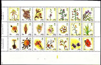 Saudi Arabia 1990 ** Mi.985/1005 1st Prtg Briefmarken Sonstige Blumen Flowers Flora