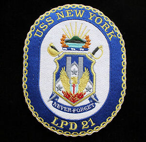 4c3972de2f2 USS NEW YORK PATCH LPD 21 US NAVY VETERAN GIFT PIN UP HAT CUSTOM 911 ...
