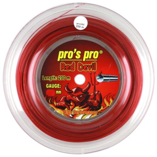 1.29mm Pro/'s Pro Red Devil 200m Reel String Tennis Free UK P/&P