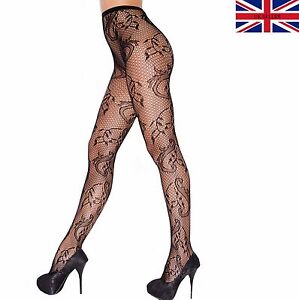 Guys patterned fishnet pantyhose with