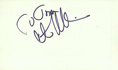 Constance Mccashin Actress 1981 Pyramid Tv Movie Autographed Signed Index Card Movies