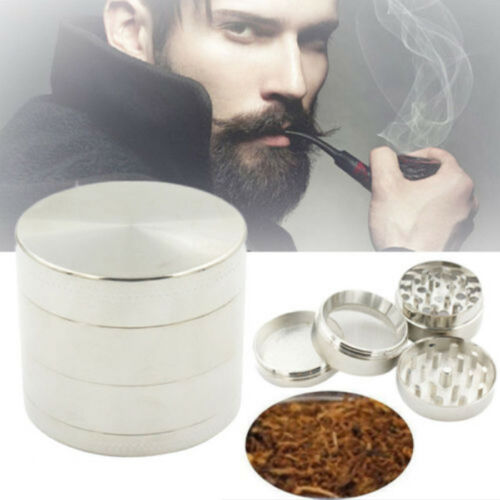 2018 Plating Black 4-piece Metal Hand Muller Herb Spice Tobacco Grinder Crusher