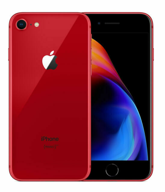 Apple iPhone 8 (PRODUCT)RED - 256GB - (Unlocked) A1863 (CDMA + GSM ...