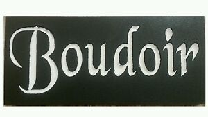BOUDOIR French Bedroom Paris Apt Chic Shabby Sign Decor ...