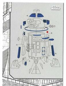 2017 Topps Star Wars The Last Jedi Blueprints and Schematics BP-7 R2 ...