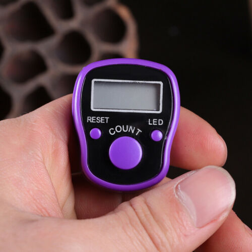 1pc Portable Electronic Digital Counter Mini LCD Hand Held Finger Ring Tally