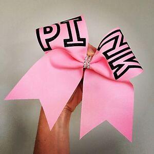 pink big cheer bow love pink victorias secret black