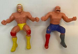 vtg WWF Thumb Wrestlers Hulk Hogan Iron Sheik Titan Sports LJN 1985 Toy Figures
