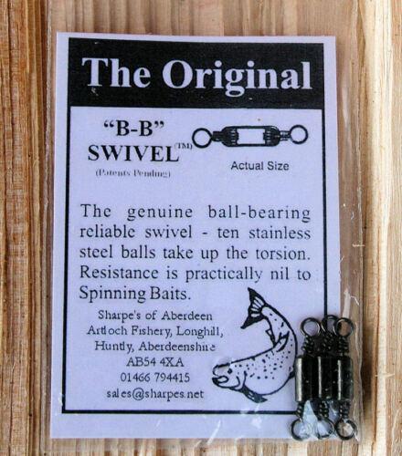 "SHARPE/'S ORIGINAL /""BB/"" SWIVELS 2019 Stocks* Ball Bearing Swivels Packet Of 3"