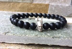 Batman-Armband-Onyx-matt-schwarz-Maenner-Armband