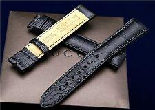 New Gucci 17 MM Black Crocodile Watch Band-(17.130)