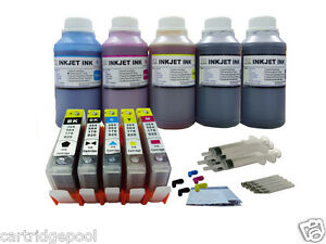 5-Refillable-ink-cartridge-with-chip-HP-564-XL-OfficeJet-C510a-B210-5x250ml-1P