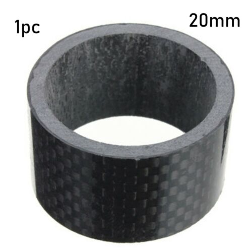 "28mm 1 1//8/"" Carbon Fiber Washer Spacers Kit Bike Fix Refit Headset Stem Washers"