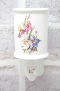 Image Is Loading Plug In Iris Night Light Ceramic On Off