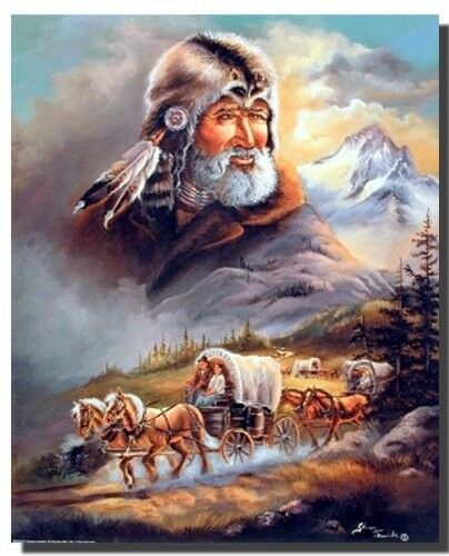 16x20 Western Covered Wagon Cowboy Stagecoach Wall Decor Art Print Poster