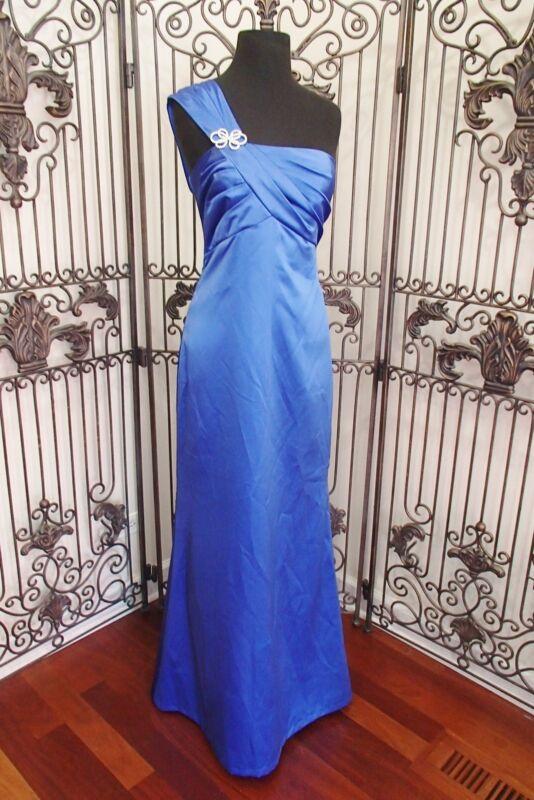 309 After Sechs 6682 Lapis Sz 10 Einschultrig Brautjungfer Formelles Kleid Kleid Modische Und Attraktive Pakete