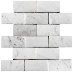 Stone Mosaic Tile Backsplash Kitchen