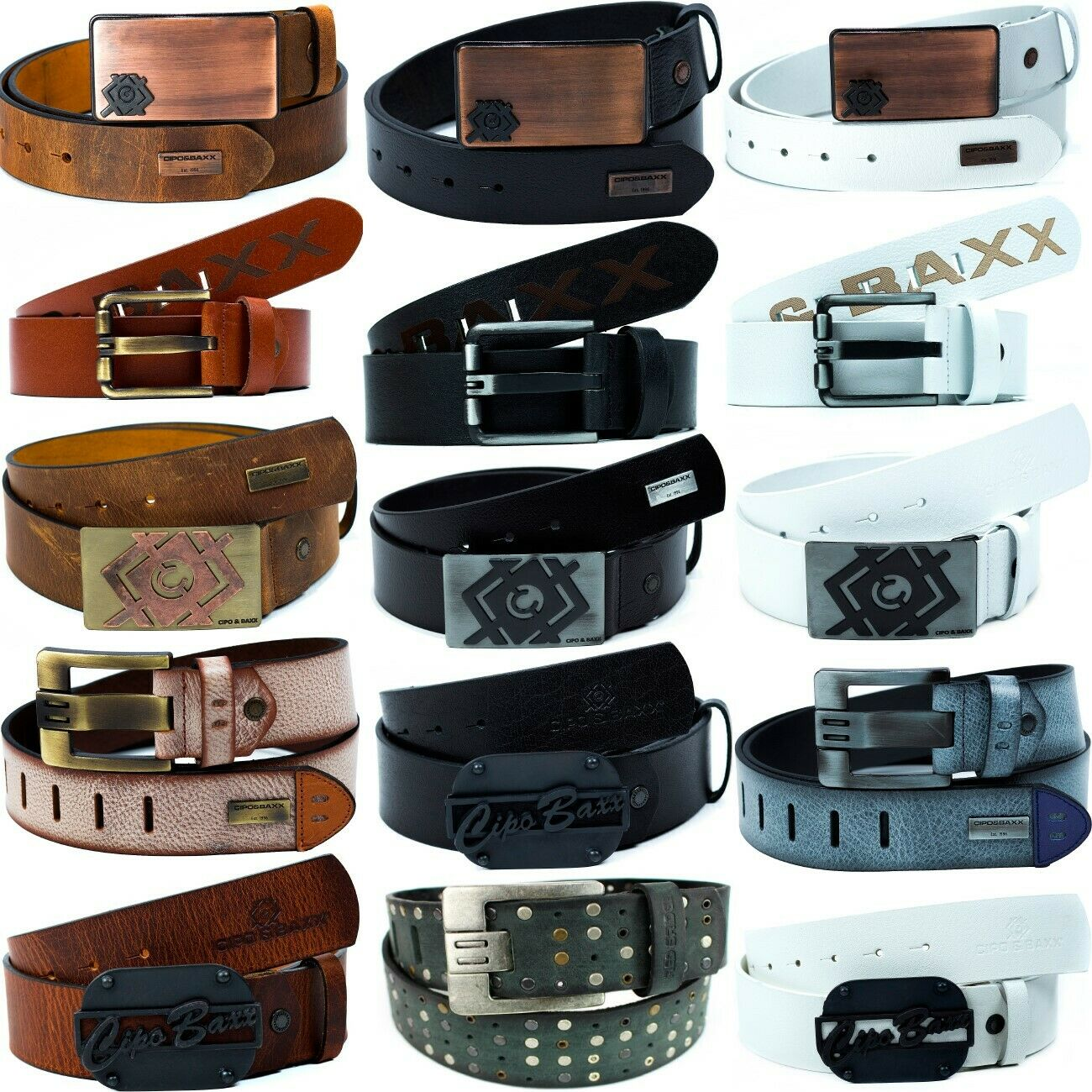 Cipo & Baxx Mens Real Leather Belt Leather Belt Fabric Genuine Leather Unisex