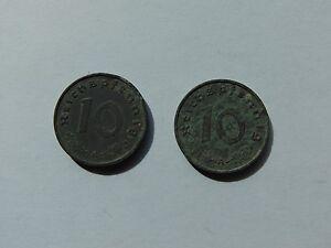 2 Münzen Deutsches Reich 10 Reichspfennig 1941a Zink Km101 Ebay