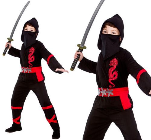 JAPANESE NINJA POWER WARRIOR COSTUME HALLOWEEN FANCY DRESS CHILDS KIDS SAMURAI