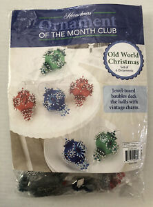 Herrschners Ornament Of The Month Kit Old World Christmas Satin Ball Opened
