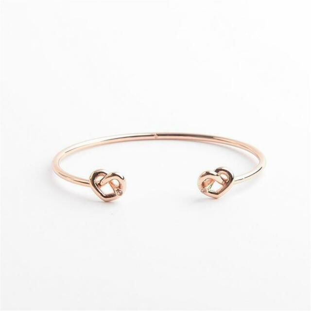 Kate Spade New York Loves Me Knot Double Cuff Bracelet Rose Gold