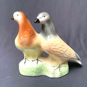 Vintage Birds Dove Pigeons Figurine Ceramic Brazil