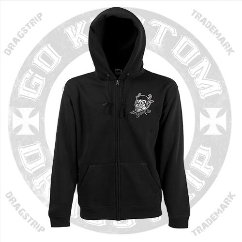 Dragstrip Clothing Devil Made Me Do It Hot Rod Psychobilly Tattoo Hooded Top
