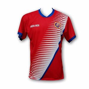 f2b7cac1ebd Costa Rica Men s Soccer Team Jersey Embroidered Logo 100% Polyester ...
