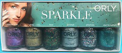 ORLY SPARKLE Nail Polish Set ~ Fun Bling Tinsel Mirrorball Glitterbomb Spotlight