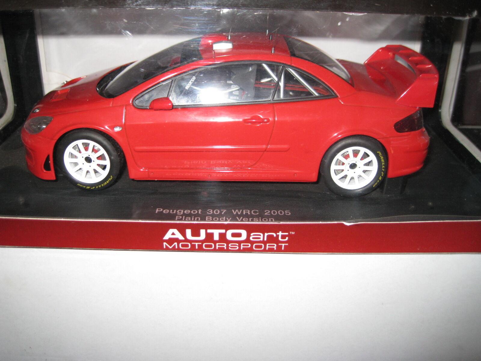 AUTOART 1.18 PEUGEOT 307 WRC 2005 PIANO verdeENZA ROSSO