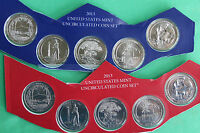 2013 10 BU ATB Coins P and D America the Beautiful UNC Quarters from US Mint Set