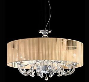 Lampadari Classici Per Soggiorno.Dettagli Su Lampada Sospensione Lampadario Camera Sala Soggiorno Damasco Classico H 52 O 60