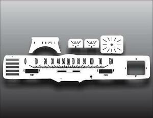 1967-1968 Cadillac Coupe Deville Dash Instrument Cluster White Face Gauges