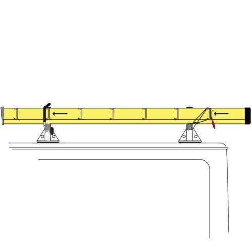 Vantech H1 2-Bar Steel Ladder Roof Rack Fits Ford Transit Connect 2014-On,Black