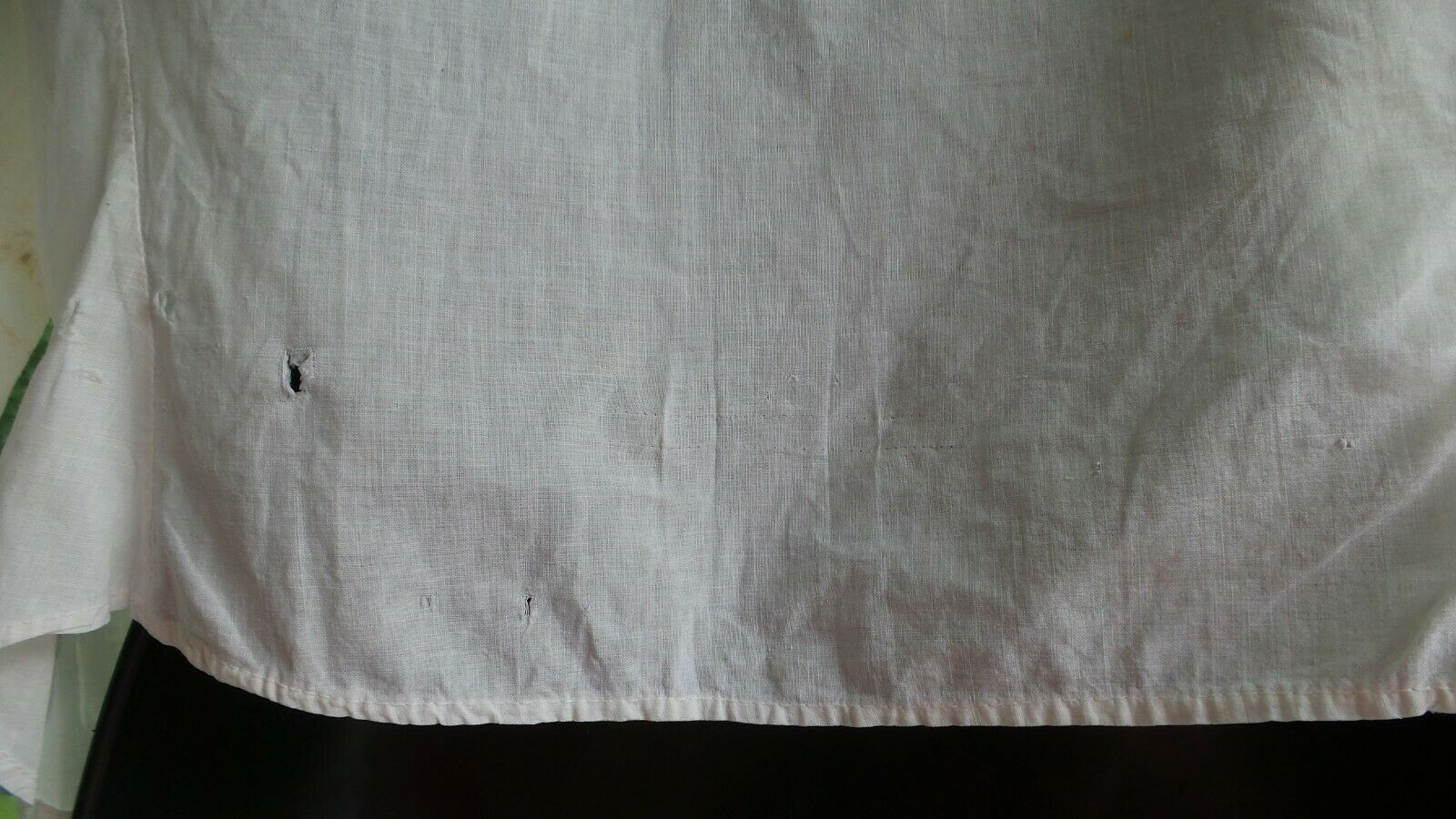 ANTIQUE! Hand STITCHED Women's BLOUSE With LACE C… - image 8