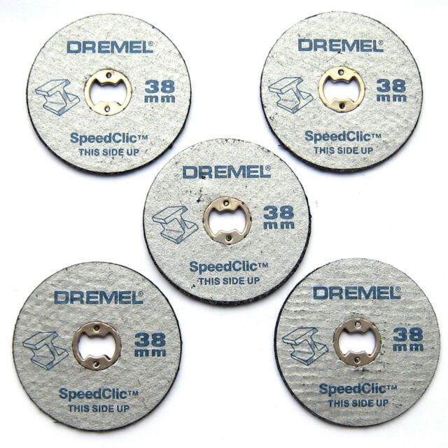 Dremel SC456 5 x 38mm EZ SpeedClic Metal Cutting Wheels Discs Speed Clic S456