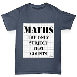 Twisted-Envy-Boy-039-s-maths-le-seul-sujet-qui-compte-Drole-T-shirt-en-coton