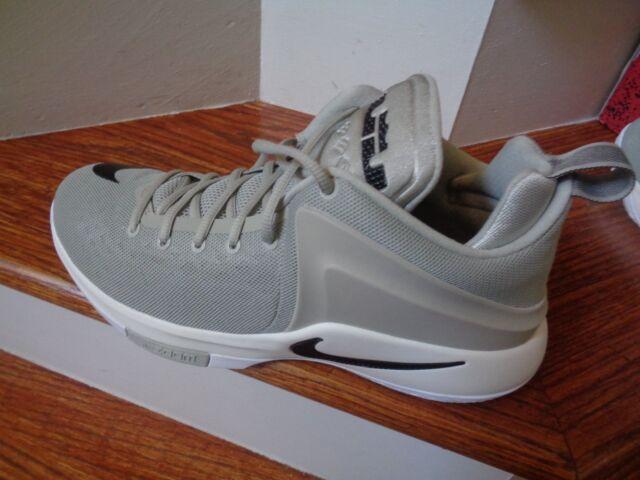 c65d497df7c1 Nike Men s Zoom Witness Lebron Sz 10 Grey black Basketball Shoes ...