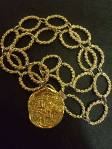 Vintage  Goldtone Trifari Wrapped Link Chain Neckl