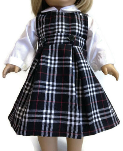 "White Blouse /& Jumper School Uniform made for 18/"" American Girl Doll Clothes"