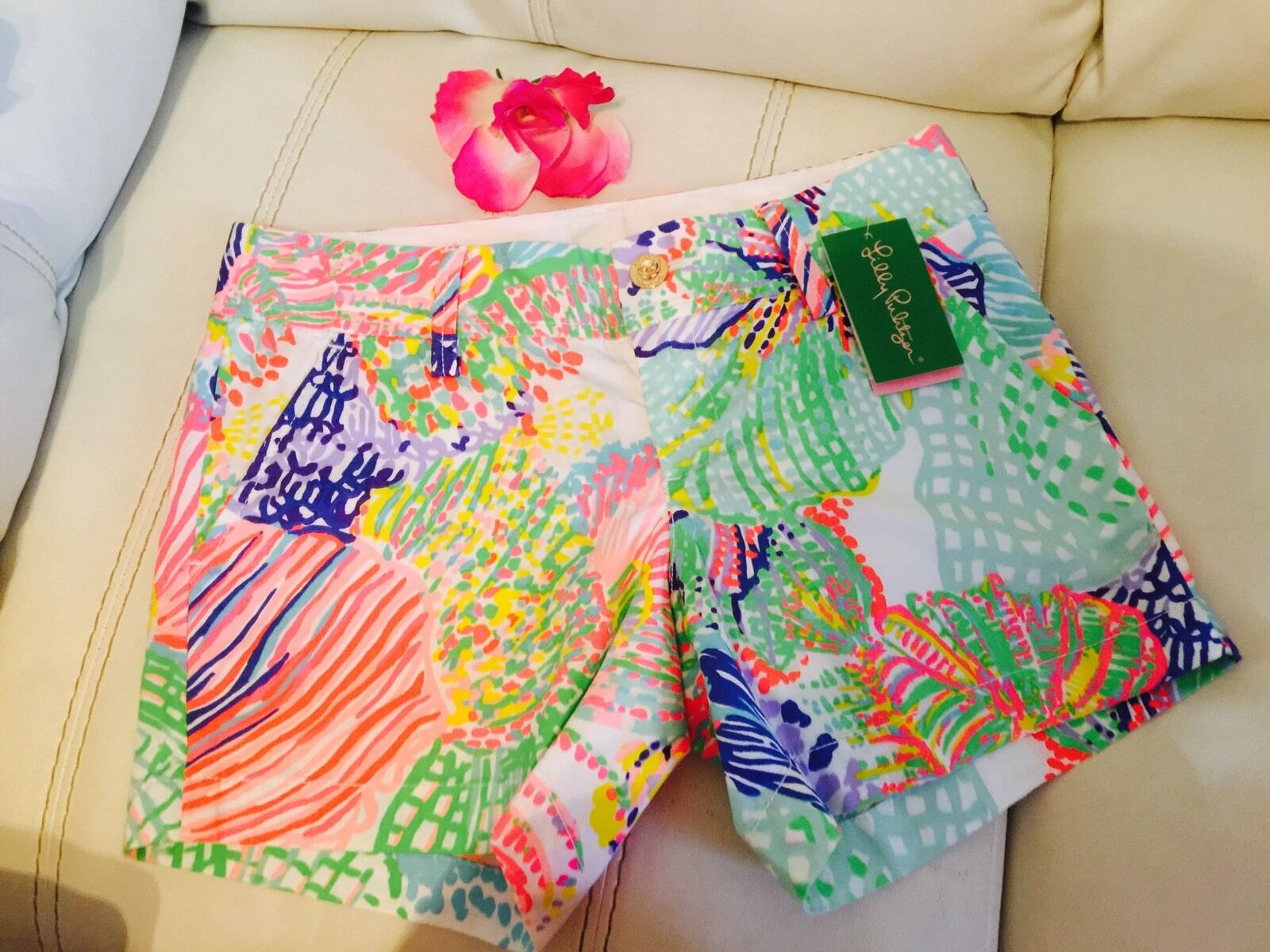 SZ 0 NWT Lilly Pulitzer Callahan Short Roar Of The Sea  64 Last One