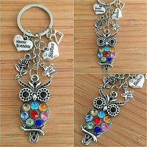 Image Is Loading Personalised HAPPY BIRTHDAY Gifts Charm Keyring 18th 21st