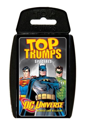 Random Supplied 1 DC Comics Card Game or Hero vs Villan  Assorted Top Trumps