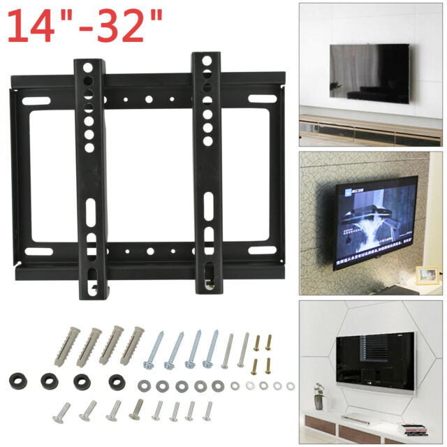 Slim Tv Wall Mount Bracket Fixed From 14 To 32 Inch Monitor Plasma Led Lcd Uk